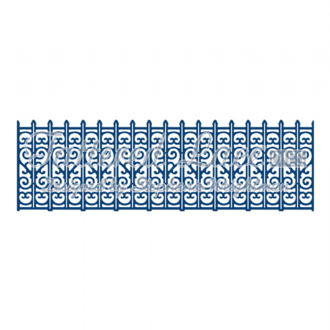 Tattered Lace Die Decorative Railings - D742